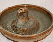 """Cat Fountain - Ceramic Pet Fountain -  Indoor Fountain - 10.75 Inch Diameter - """" Antique Zen"""""""