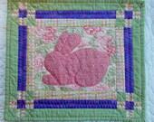 CLEARANCE Bunny in Rose Garden Table Runner
