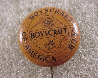 1930s Boyscraft Club of America - Vintage Pinback Button