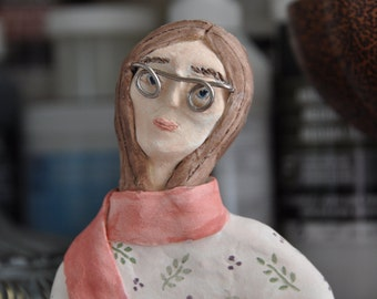 Laurel   Spectacles Series   Creative Paperclay Sculpture