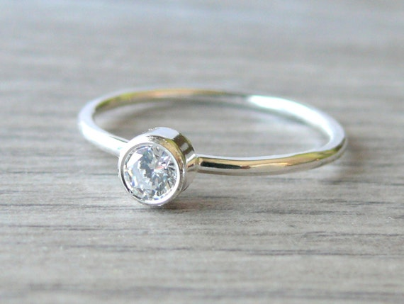 Cubic zirconia ring sterling silver stacking gemstone ring sterling silver ring stack ring silver jewellery