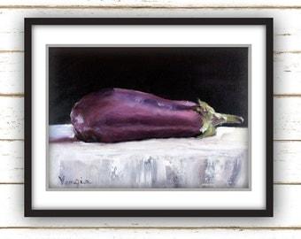 Eggplant - Painting Print