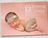 Birth Announcement Template 2 Pack (Emma birth announcement template for photographers)