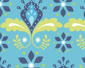 Organic KNIT Fabric - Monaluna Marrakech - Nile Flower