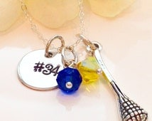 Personalized  Lacrosse Charm Necklace-Mom Lacrosse Necklace-Team Lacrosse Necklace-LAX team Jewelry-Lacrosse Charm