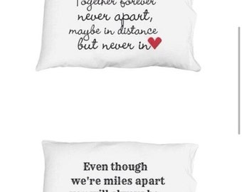 Personalized pillow cases-long distance gift-