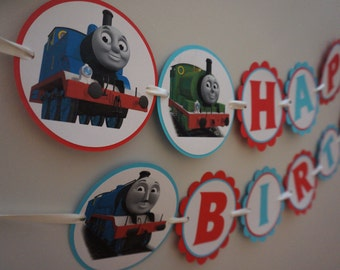 Thomas and Friends Birthday Banner - MADE TO ORDER