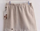 Wool Mini  Soft Grey w/ scrolled Lace accent M