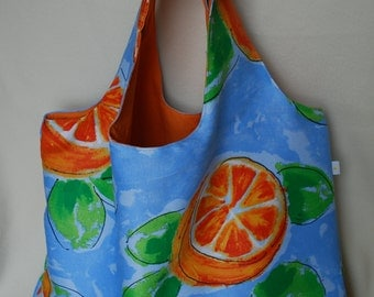 Funny oranges summer tote - Reversible