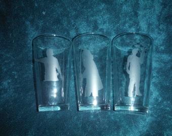 Walking Dead Silhouette Glass