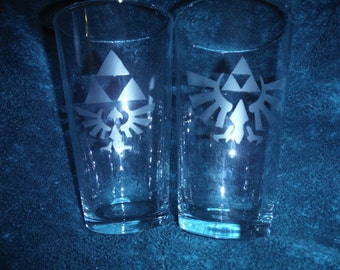 Legend of Zelda Triforce Glass