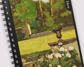 Art notebook - PAINTER'S GARDEN - classic art printed on satin - perfect for notes, recipes, journal, lists - makes a great gift