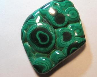 Malachite  ........ large size ........    55 x 41 x 10  mm   ...   B498