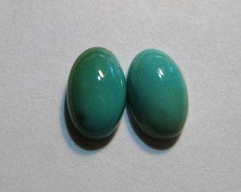 Natural Nevada Turquoise .. Dyer Blue Mine  cabochon ..... 2 pieces....  8 x 5 x 3  mm    .....   B1220