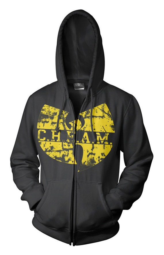 Wu tang Clan  Hoodie. Cash Rules Everything Around Me Zipper or Pullover Hood - ON SALE