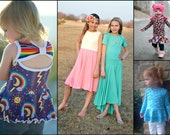 Bow Back Beauty top/dress PDF pattern and Tutorial - NB-12yrs - girl - by LittleKiwisCloset
