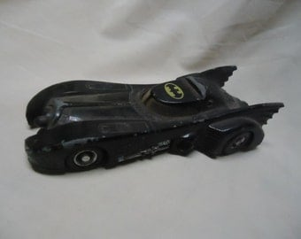 Vintage 1989 Ertl Bat Mobile Toy Car, Batman, Dc Comics, collectable toy