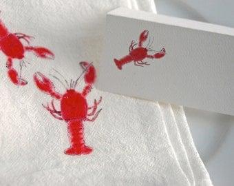 Lobster Tented Cards, Red Lobster, Blue Lobster, Lobster Event Cards, Tented Name Cards, Personalized Name Cards, Blank Name Cards, Event