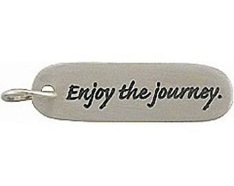 "Sterling Silver ""Enjoy the Journey"" Pendant"