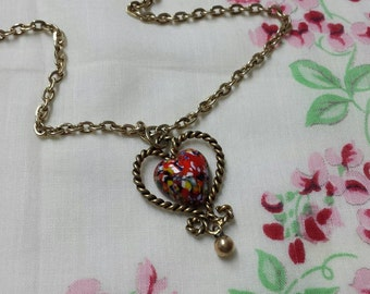Vintage Sarah Coventry Hearts and Flowers Pendant