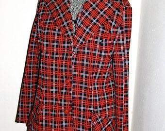 Vintage 1970's Plaid Jacket
