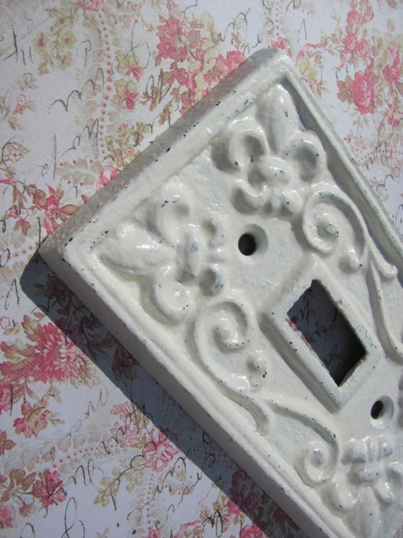Light switch cover french country wrought iron by theshabbychateau - Wrought iron switch plate covers ...