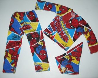 """Elf clothes (12"""") - Super heros PJ's for boy and girl elf doll"""