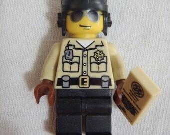 Custom Traffic Cop Necklace Made With Genuine LEGO® Bricks