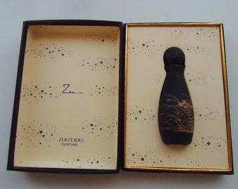 Shiseido Zen Little Perfume Bottle. In the Original Box.Glass.80s