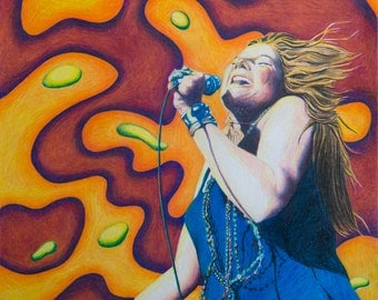 Janis 1 - Colored Pencil Print by Kevin Klopfenstein