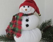 Frosti the Snowman Christmas Decoration Red Hat Snowman