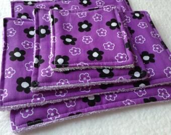 UNsponge Green Cleaning Sponge Alternative, Variety Pack, 4 REUSABLE UNSPONGES, Purple
