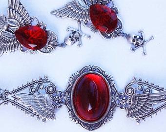 Ruby gothic set
