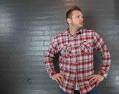 SALE Vintage 90s Grunge Flannel Button down Shirt By Nautica