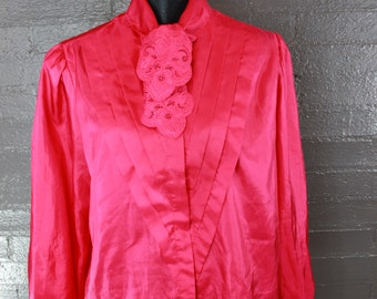 Vintage Hot Pink Blouse by Partners II