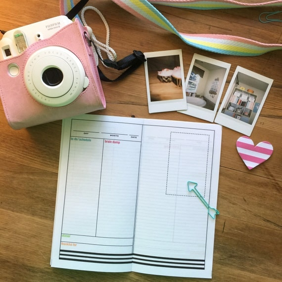 DO1P Midori inserts with Instax journal page (DOWNLOAD ONLY)