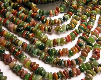 Indian agate - bead - chip stone - A quality - 80 beads per strand - PSC22