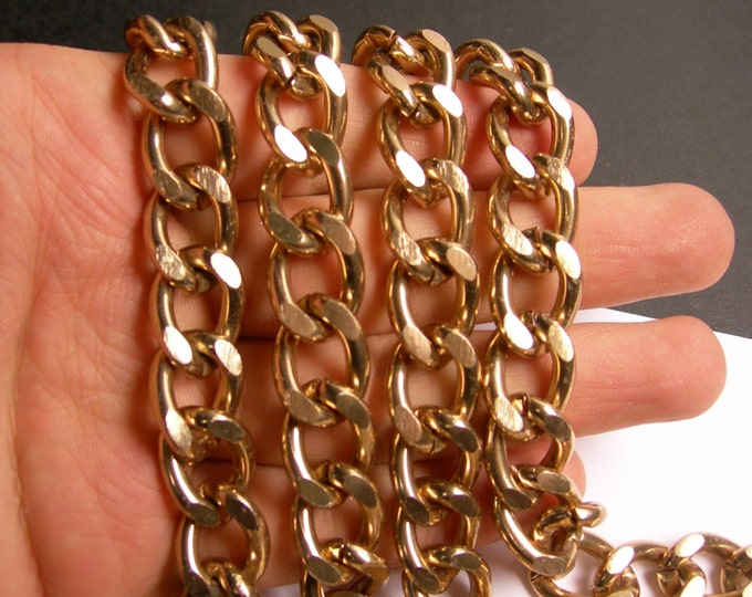Bronze chain  - 1 meter - 3.3 feet - aluminum chain - bronze curb chain  -  NTAC133