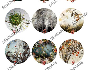 4pcs 10mm,12mm,14mm,16mm,18mm,20mm,25mm,30mm Round Photo Glass Cabochons ,jewelry Cabochons finding beads,cabochons findings -38
