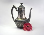 Ornate silver plated Moroccan or Turkish inpsired style coffee pot - Edwardian - Wilcox Silver Co