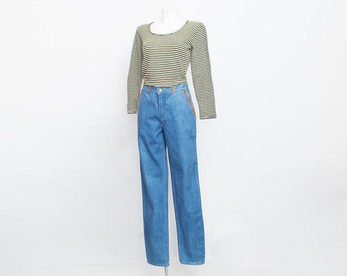 NOS Vintage 80 blue jeans medium waist straight cut size w29