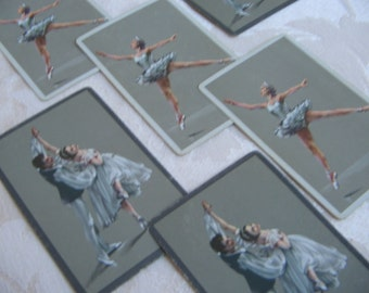 Vintage Ballet Dancers Ballerina Congress Playing Cards Pinochle Double Deck in Box, U.S. Playing Card Co., Collectible Game Art Supplies