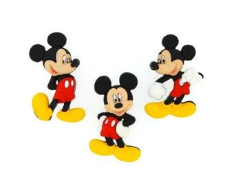 Mickey Mouse Jesse James Buttons Disney Licensed Character Novelty Shank Button Set Sewing Crafts