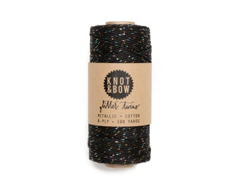 Black/Prism Glitter Twine / 100 Yards / The Original Glitter Twine