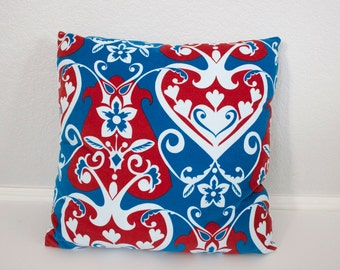 "Throw Pillow - Accent Pillow - Anna Maria Horner Innocent Crush Velveteen - Queen of Hearts - 18"" Pillow"