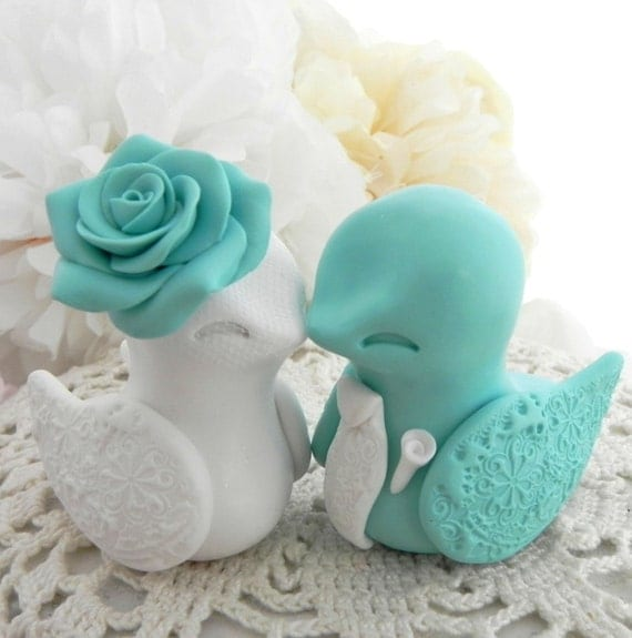 egg wedding cake topper bird wedding cake topper robins egg blue and by lavagifts 13943