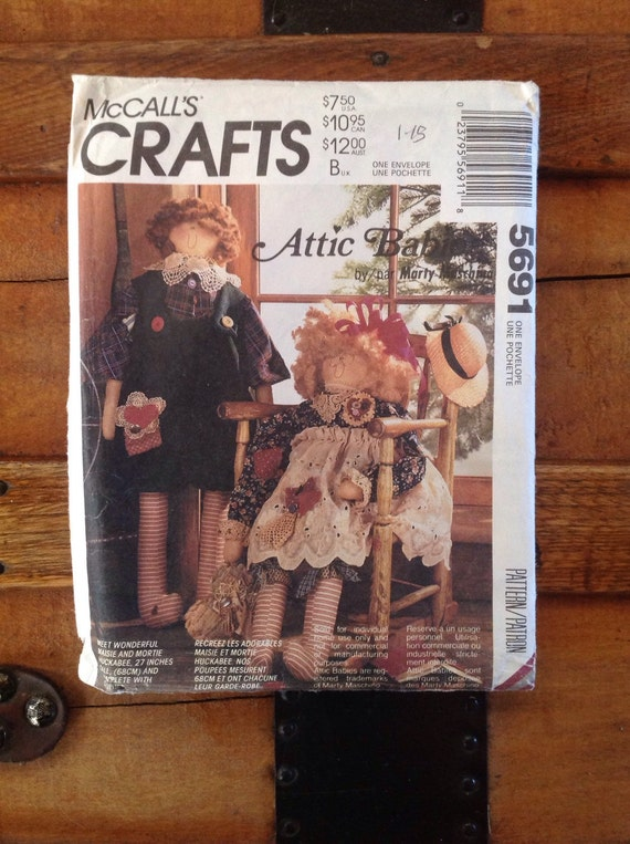 Vintage Mccall S Attic Babies Marty Maschino Maisie