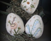 Woolen Sugar Eggs KIT Easter Decoration by cheswickcompany