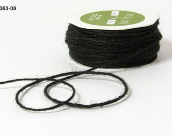 3 Yards BLACK Burlap TWINE  Ribbon Trim  cheswickcompany