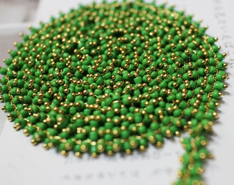 The green beads chain